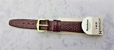 "Hirsch L/Band 14mm-Burgandy-G/P BUCKLE ""Rainbow""-WATER RESISTANT"