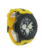 Fila FA0847.72 Abissi Men's Round Analog Black Yellow Chronograph Date Watch