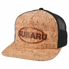 SUBARU Cork Flatbill Cap Legacy Forester Impreza Outback Sti Wrx Hat Mesh Back