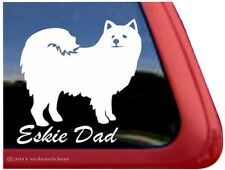 Eskie Dad | American Eskimo Dog Vinyl Window Decal Sticker