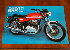Ducati 500 GTL leaflet Prospekt, 1975