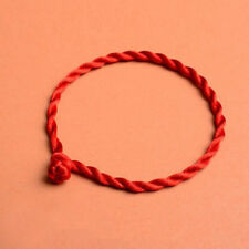 Men Women Hand Braided Red Rope Cord Bracelet Couples Lucky String Handmade