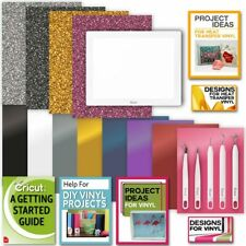 Cricut BrightPad & Accessories:Vinyl Pack, Iron-On, Weeder Kit & Digital Designs