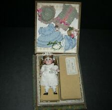 """BABY ROSE"" - ALL BISQUE #208 KESTNER - PRESENTATION -ORIGINAL BOX & CHEST LABEL"