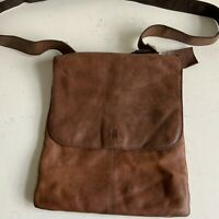 Rowallan Tan Leather Messenger Cross Body Shoulder Bag Hand Made Men Or Women
