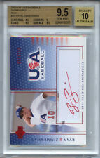 RYAN ZIMMERMAN 2004 Upper Deck Team USA RED AUTO rookie BGS 9.5 GEM MINT 1 of 1