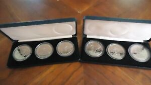 2--1990 NIVE $5.00 DEFENDERS OF FREEDOM 3-COIN PROOF SET