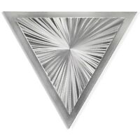 Modern Metal Art Layered Silver Abstract Starburst Design Contemporary Triangle