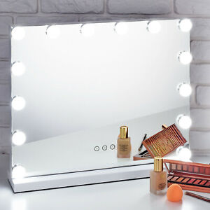 LED Glam Hollywood Dressing Table Mirror Vanity Lighted Cosmetic Dimmable Bulbs