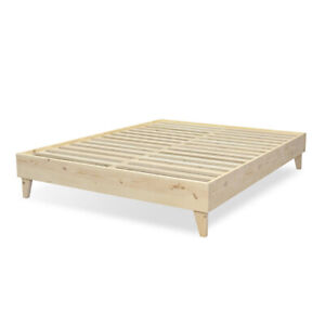 100% North American Pine Wood - Platform Bed Frame - Tool-Free Assembly - Natura