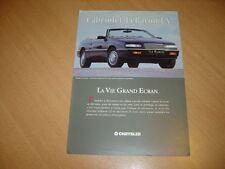 DEPLIANT Chrysler LeBaron LX de 1993