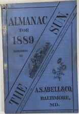 Baltimore Sun Maryland Almanac 1889