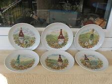 6 ASSIETTES à FROMAGE Porcelaine LUCIEN ENGEL 19,5 cm