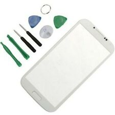 VETRO DISPLAY per SAMSUNG GALAXY S4 GT i9505 NO TOUCHSCREEN +COLLA+TOOLS BIANCO