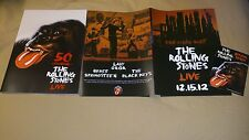Rolling Stones One More Shot Program 12/15 2012 50th Tour Lady Gaga Springsteen