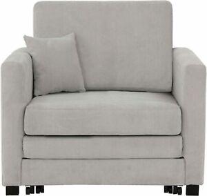 Sessel mit Schlaffunktion Funktionssessel Gästebett Sofa hellgrau Schlafsofa