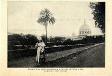 Papst Pius X. beim Morgernspaziergang in den Gärten des Vatikan 1906