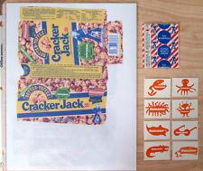 Rare Vintage Nickelodeon TV, Cracker Jack Premium: 8 Stickers w/Sealed Toy, 1992
