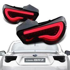 Subaru BRZ FT86 Scion FRS GT86 Black Housing Smoke Lens LED Red Tail Light Lamps