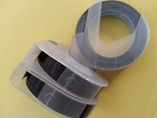 3 rolls x Dymo 3D Embossing Label 9mm x 3m in BLACK **CAZY SALES