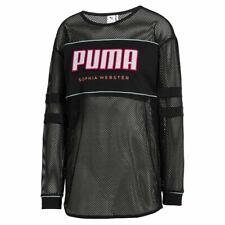 Puma x Sophia Webster Mesh Top Long Sleeve Tee Black 578562 01