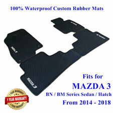 Rubber Waterproof Floor Mats Tailor Made for Mazda 3 Hatch Sedan 2014 - 2019
