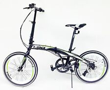 Folding bike 20 inch wheels  7 speed shimano gears disc brakes carry bag Trinx
