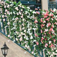 Artificial 69 Head Flower Rose Leaf Garland Wedding Stairs Ladder Winding Vines
