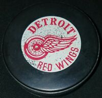 DETROIT RED WINGS VINTAGE CANADA NHL GT SLUG HOCKEY OFFICIAL GAME PUCK holes!