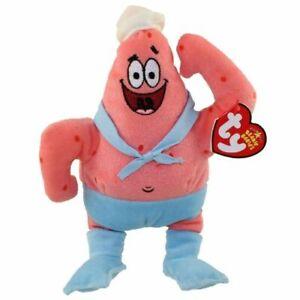 "Ty Beanie SpongeBob Patrick Star Barnacleboy Bikini Bottom Nickelodeon 7"" 18cm"