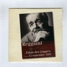 CD SINGLE PROMO (NEUF) SERGE REGGIANI NOS QUATRE VERITES