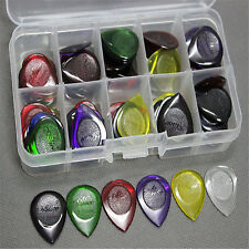 Alice 40 PCS Guitar Picks Plectrums With Storage Case Mix Color Thickness