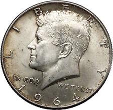 1964 President John F. Kennedy Silver Half Dollar United States USA Coin i44595