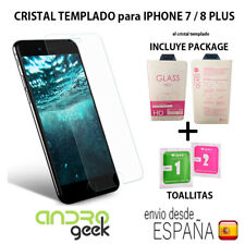 Cristal templado protector pantalla IPHONE 7 / 8 PLUS 0,3mm 9H 2.5D.Con PACKAGE