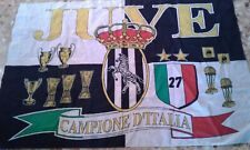 BANDIERA FLAG VINTAGE JUVENTUS CALCIO FOOTBALL ITALIA