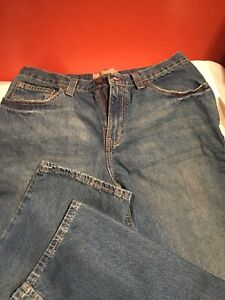 Red Camel Jeans Size: 32 x34 Stryker Whiskers Dark Wash Faded Flat Front Casual
