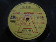 """Hudson-Ford – Take It Back - UK A&M Demo  7"""" 1973"""
