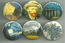Vincent Van Gogh Paintings Art 1.5 Inch  Pins Buttons Badges