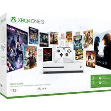 Microsoft Xbox One S Konsole 1TB Speicher Starter Bundle, Weiß