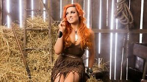Framed Print - Becky Lynch Sat on a Haystack (Country Picture Poster Art Model)