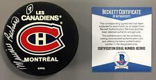 MAURICE RICHARD SIGNED MONTREAL CANADIENS PUCK ROCKET BAS BECKETT COA B53995