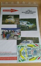 DECALS 1/18 REF 844 PEUGEOT 206 WRC BENGUE TOUR DE CORSE 2004 RALLY RALLYE