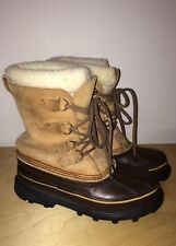 Womens Sorel/Eddie Bauer Brown Lace Up Insulated Winter Boots Size 6