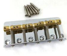 Wilkinson 5-string Chrome w/Brass Saddles Bass Bridge WBBC5-CR