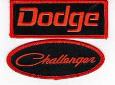 DODGE CHALLENGER BLACK ORANGE SEW/IRON ON PATCH EMBROIDERED HEMI MOPAR CAR