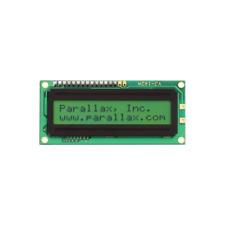 Parallax 27977 LCD Display, 16 x 2 Character, Serial Backlit ASCII Dec 32-127