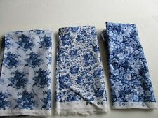 DAISY KIMGDOM BLUE FLOWER  FABRIC  3 DIFFERENT PATTERNS