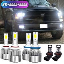Fog Bulbs for 2009-17 Dodge Ram 1500 2500 3500 4500 6x LED Headlight Hi/Lo beam
