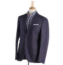 NWT $2375 BOGLIOLI Dark Blue Cotton-Silk Twill Denim Suit 40 R (Eu 50)