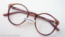 Brille Brillenfassung Gestell Panto Form Kunststoff Rahmen braun leicht Grösse S